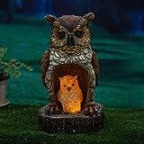 Ivy Home Resin Solar Light Garden Statuary for Outdoor Garden Decor,Owl For Sale