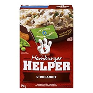 Hamburger Helper Less Sodium Stroganoff, 158 Gram