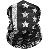 American Flag Outdoor Face Mask By Indie Ridge Microfiber Polyester Multifunctional Seamless Headwear for Motorcycle Hiking Cycling Ski Snowboard