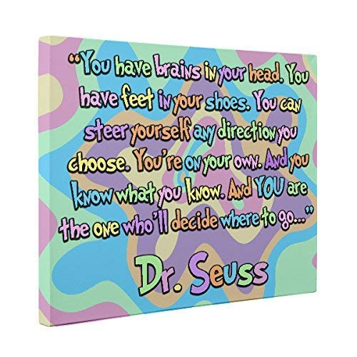 Where to Go Dr Seuss Quote CANVAS Home D cor