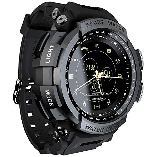 LOKMAT MK28 Smart Watch 1.14 Zoll Bildschirm BT4.0 Leben wasserdichter Schrittzähler Kalorien Alarm Sportler Smartwatch…