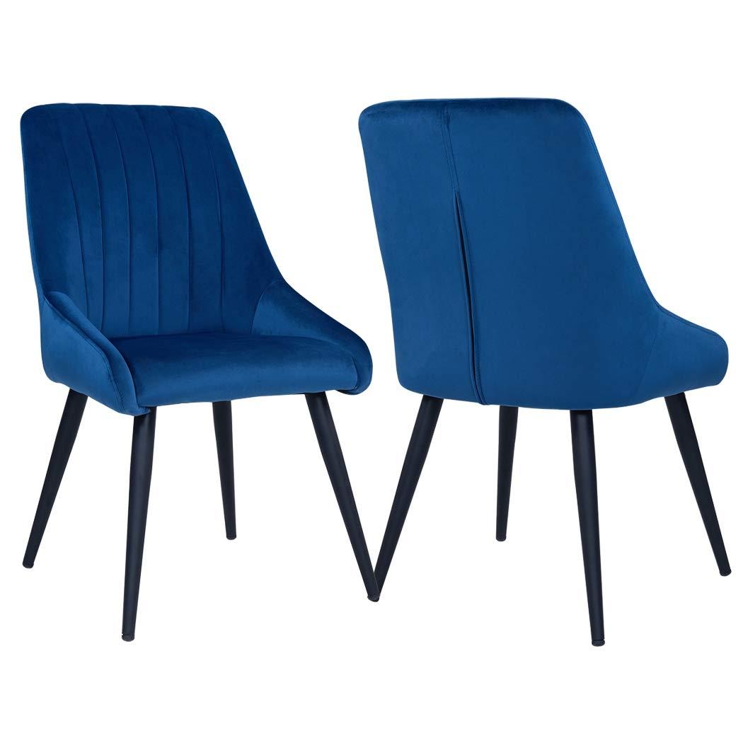Duhome 2er Set Esszimmerstuhl Aus Stoff Samt Petrol Grun Blau Stuhl