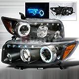 Scion xB 2008 2009 2010 LED Halo Projector Headlights - Black