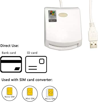 Card Reader Writer SIM card ID USB Card Reader Chip //EMV bank Card w//SIM Slots