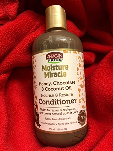 African Pride Moisture Miracle Nourish and Restore Conditioner with Honey, Chocolate & Coconut Oil (12oz)