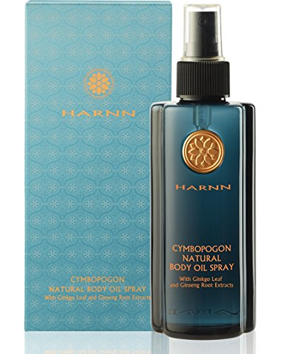 Gingko Leaf Extract (Harnn Aromatic Natural Oil Body Spray (CYMBOPOGON) with Gingko Leaf and Ginseng Root Extracts, 7.4 fl.oz)