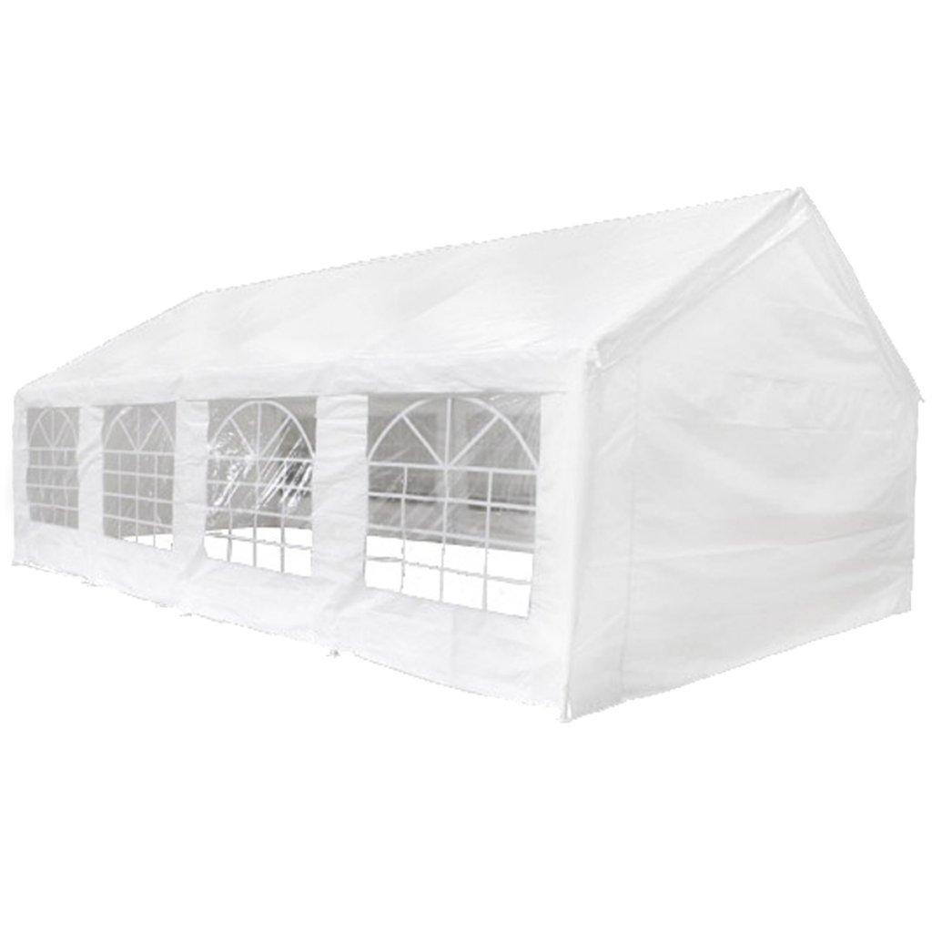 vidaXL Tenda per Feste 3x6m 6 Pareti Bianco Tendone da Giardino Chiosco Gazebo