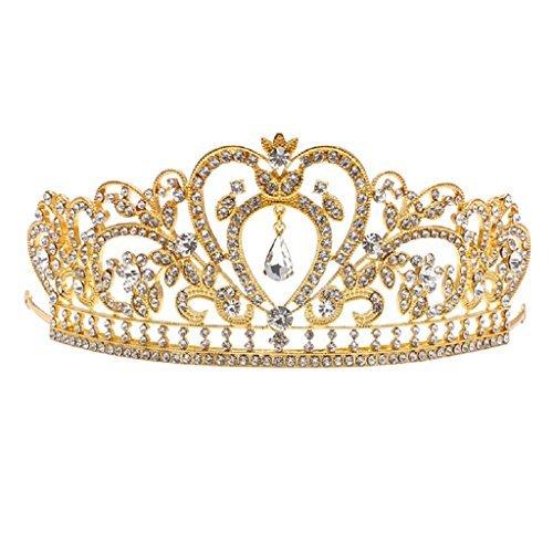 Zebra Luxury Princess Rhinestone Hair Accessories Tiara Bridal Wedding Crown Headband