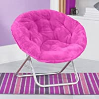 Mainstay Faux-Fur Saucer Chair,