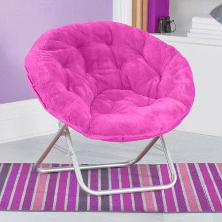 Very Comfortable Mainstays Faux-Fur Saucer Chair (Pink) by Mainstay..