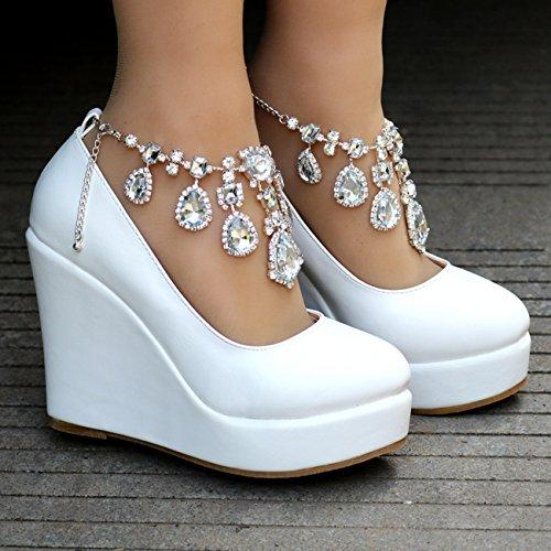 Minitoo , Plateforme femme - blanc - White-12cm Heel,