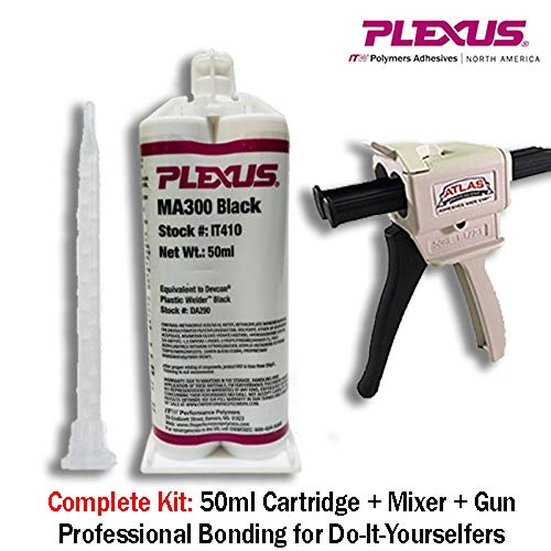 Plexus MA300 Black Two-Part Base & Accelerator (B/A) Methacrylate Adhesive - 50 ml Dual Cartridge - PLEXUS IT410 [PRICE is per CARTRIDGE] (Best Base For Mma)