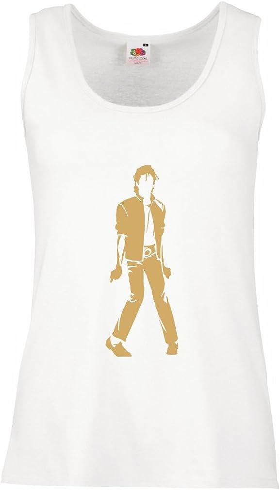 lepni.me Camisetas sin Mangas para Mujer Me Encanta M J - Rey del Pop, 80s, 90s Músicamente Camisa, Ropa de Fiesta
