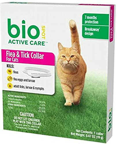 Bio Spot Active Care Flea & Tick Collar for Cats, 6 Pack