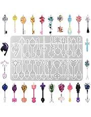 أوبسيدي مفاتيح متدلية من الراتنج لصنع 24 نمطًا قلامًا مفاتيح زينة حفلات الزفاف