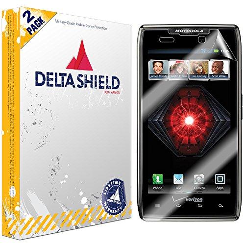 (DeltaShield Screen Protector for Motorola Droid Razr Maxx (2-Pack) BodyArmor Anti-Bubble Military-Grade Clear TPU Film)