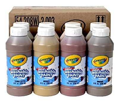Binney & Smith Crayola(R) Washable Paint In Multicultural Colors, Set Of 8