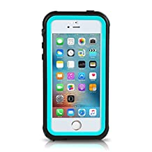 iPhone SE Waterproof Case, Merit IP68 Standard Protection Dirt-poof Shockproof Snow-proof and Waterproof Case for iPhone SE/5/5s (Blue)