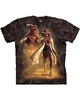 The Mountain Men's Western Sheriff T-Shirt, Black, 3XL