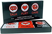 Fun and Romantic Game for Couples: Date Night Box Set with Conversation Starters, Flirty Games and Cool Dares
