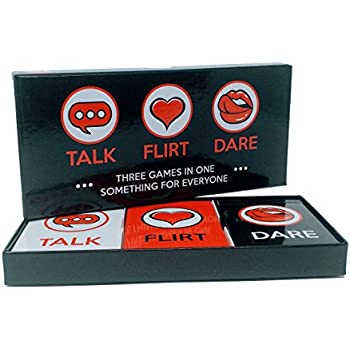 ARTAGIA Fun and Romantic Game for Couples: Date Night Box Set with Conversation Starters, Flirty Games and Cool Dares - Choose from Talk, Flirt or Dare Cards for 3 Games in 1 - Lovely Gift!