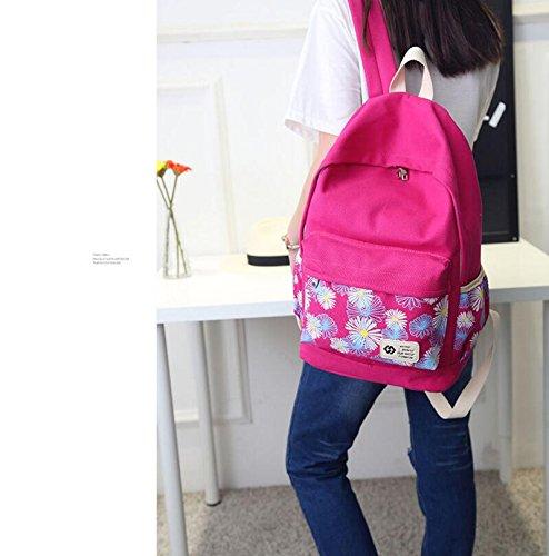 Mochila de lona mejorada de Imyth Mochila de la escuela de peso ligero para las niñas: Amazon.es: Zapatos y complementos