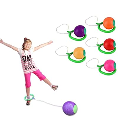 Liveday Skip Ball Children Exercise Coordination and Balance Hop Jump Playground Toy: Home & Kitchen