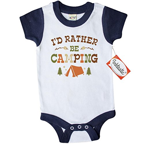 Inktastic-Unisex-Baby-Rather-Be-Camping-T1-Infant-Creeper