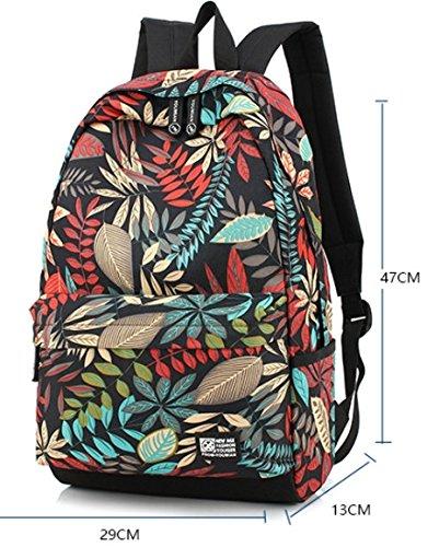 Otomoll Neue Mode Entworfen Drucken Männer Frauen Rucksack Leder Schultasche Lässigen Stil Rucksäcke + Kleine Beutel Tasche Laptop Rucksack