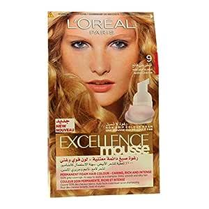 L'Oreal Excellence Mousse Permanent Foam 9 Pure Light Blonde Hair Colour