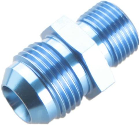 10 AN 10AN AN10 Flare To M20x1.5 Metric Straight Fitting Blue Male