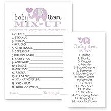 Purple Elephant Baby Shower Game Word Scramble ( 25 Pack )