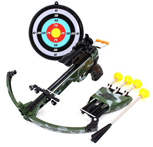 PowerTRC Military Toy Crossbow Set w/Target