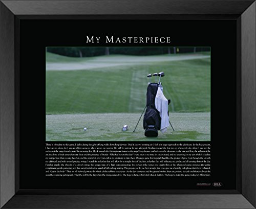 "Old School Athletics - Golf My Masterpiece 22""x28"" Inspirational Framed Print (Outer Frame Size is 26.5"" x 32.5"")"