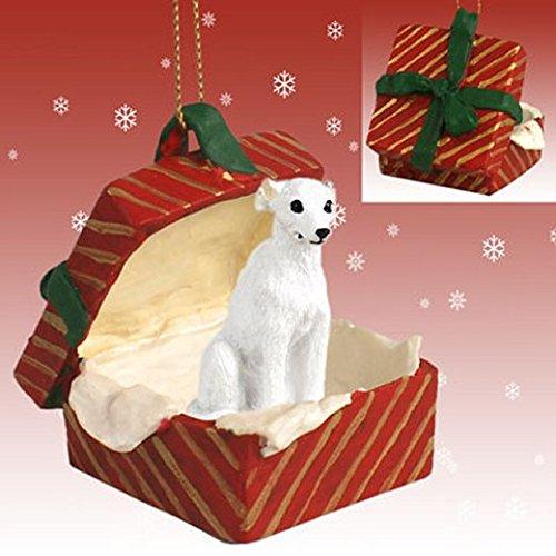 White Whippet Red Gift Box -