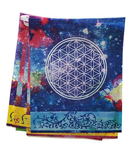 (Buddhadoma Cosmic Harmony Sacred Geometry Prayer Flags)