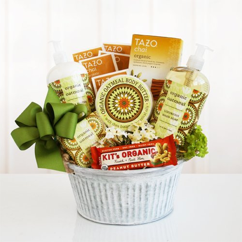 Healthy and Natural Organic Oatmeal Spa Gift Basket by The Gift Basket Gallery by The Gift Basket Gallery