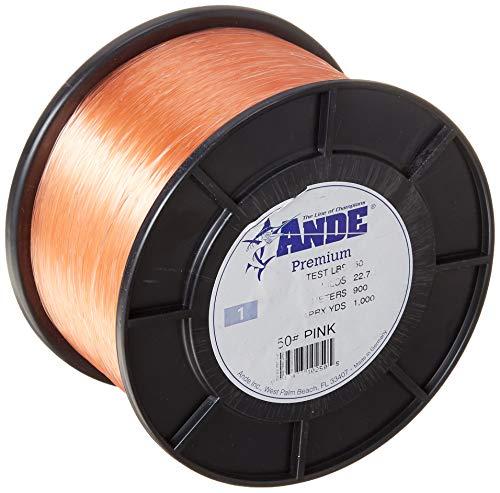 Ande Premium Monofilament – 1 lb. Spool – 50lb. Test – Pink
