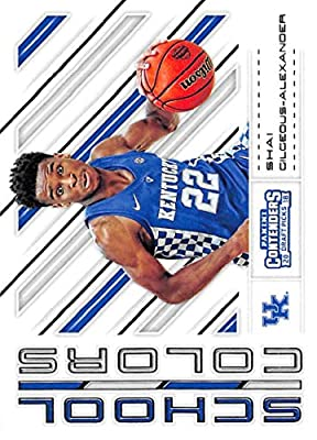 2018-19 Panini Contenders Draft Picks School Colors #14 Shai Gilgeous-Alexander Kentucky Wildcats