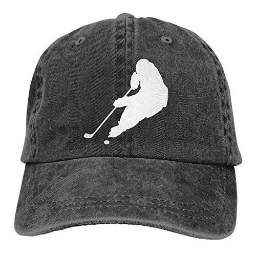 Hockey Player Silhouette Printed Outdoor Jean Cloth Headgear Black