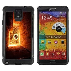 Be-Star único patrón Impacto Shock - Absorción y Anti-Arañazos Funda Carcasa Case Bumper Para SAMSUNG Galaxy Note 3 III / N9000 / N9005 ( Abstract Flames )
