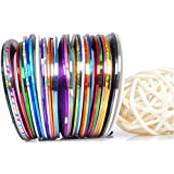 Amazon 30pcs mixed colors rolls striping tape line nail art beaute galleria 30 mixed colorsrolls striping tapes line nail art decal sticker tip decoration prinsesfo Image collections