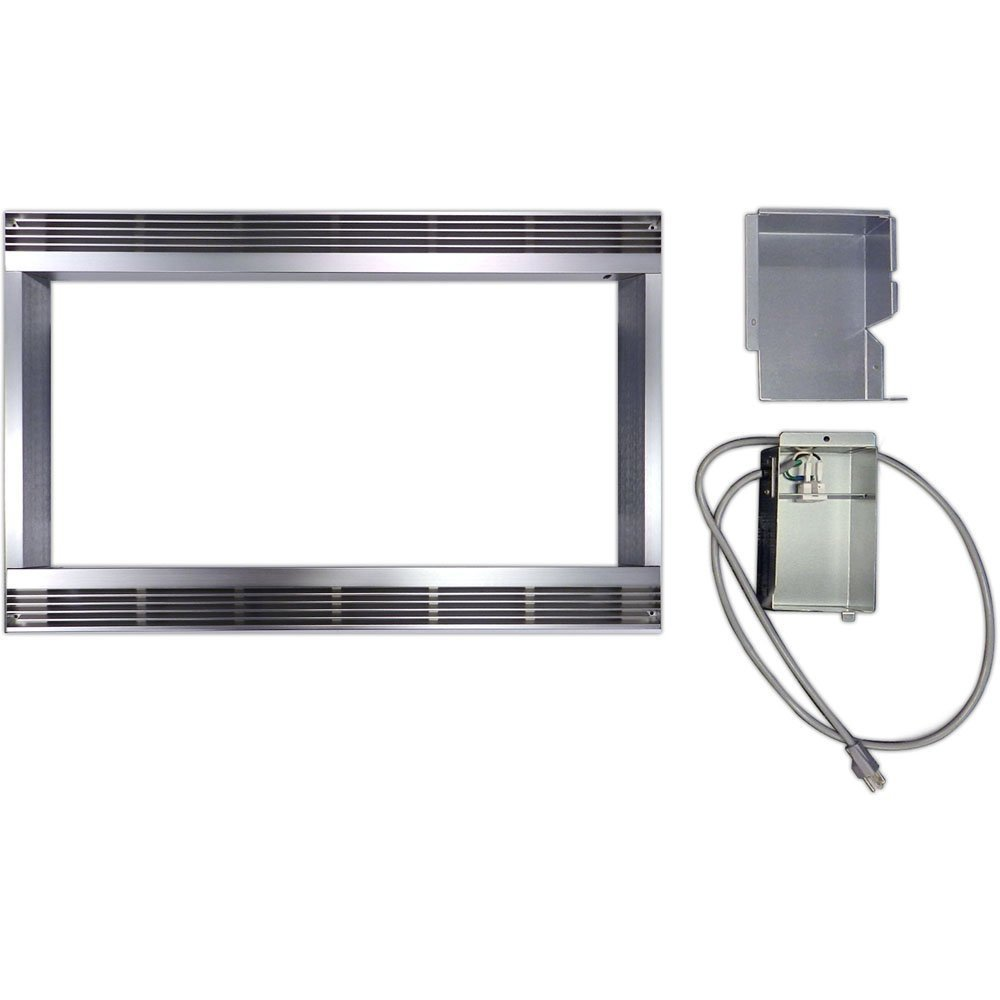 30 In. Built-In Trim Kit for Sharp Microwave R551ZS - Stainless Steel