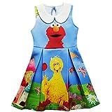 Kids Girls Sesame Street Elmo Big Bird Collar Dress Outfit