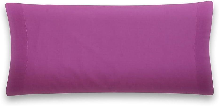Sancarlos - Funda de almohada para cama, 100% Algodón percal, Color morado, Cama de 90 cm: Amazon.es: Hogar