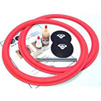 Cerwin Vega 15 Flat-attach 2 Speaker Foam Surround Repair Kit with Dust Caps D9, DX9, 152WR, U-351, VSW-15 Many More - 15 Inch