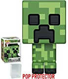 Funko 8-Bit Pop! Games: Minecraft - Creeper Vinyl Figure (Bundled with Pop Box Protector Case)