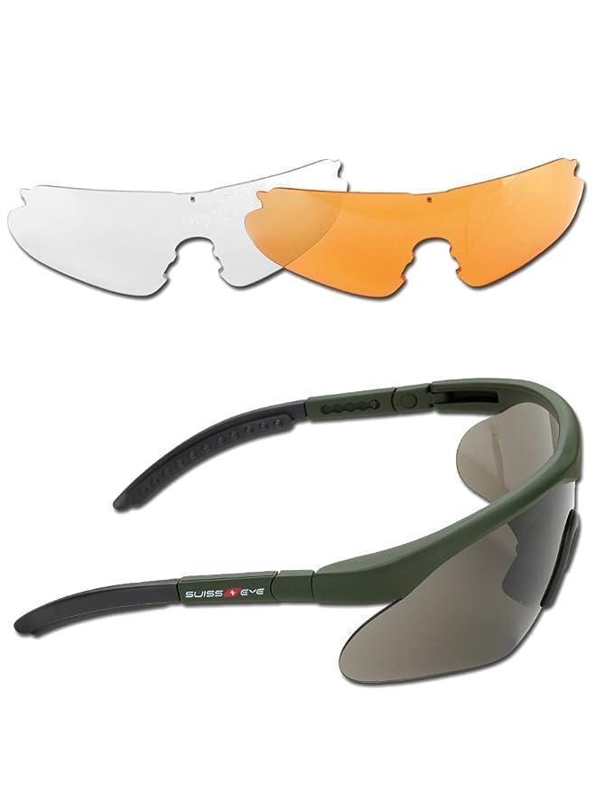 Splitterschutzbrille Raptor mit Wechselscheiben oliv LJ3vQFN