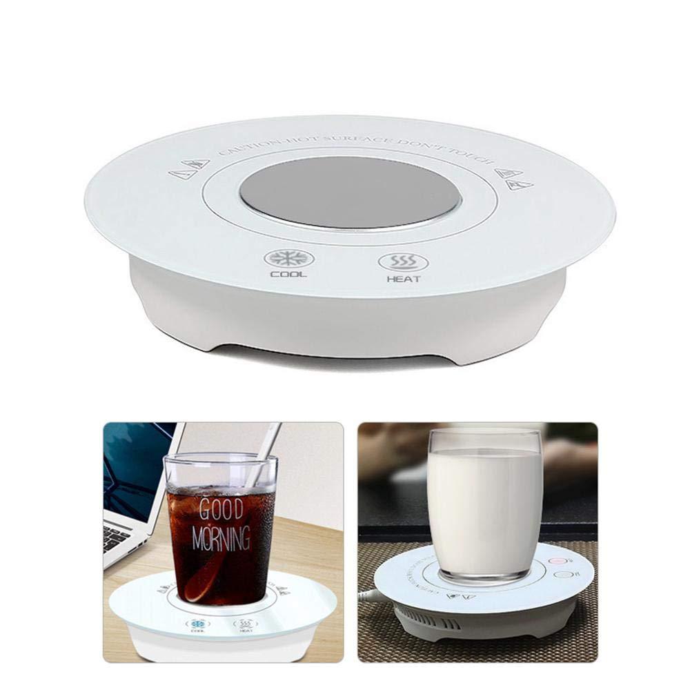 AUOKER USB Mug Warmer and Cooler for Desk, Smart Coffee Warmer Mug Warmer for Home Office, Heating and Cooling Coaster Beverage Warmer Cup Warmer for Coffee Beer Drinks Juice Milk Wine Yogurt