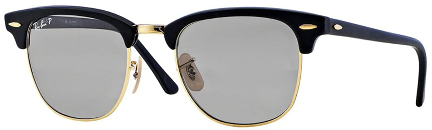 8f1bb6d50fd Ray-Ban Men s Polarized Clubmaster RB3016-901S P2-51 Gold Wayfarer  Sunglasses  Ray-Ban  Amazon.ca  Luggage   Bags